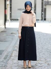 Navy Blue - Plus Size Skirt