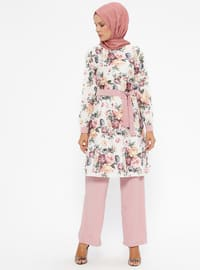 Dusty Rose - Multi - Unlined - Suit
