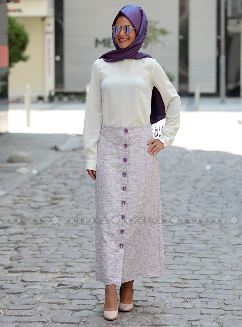 Lilac - Fully Lined - Skirt