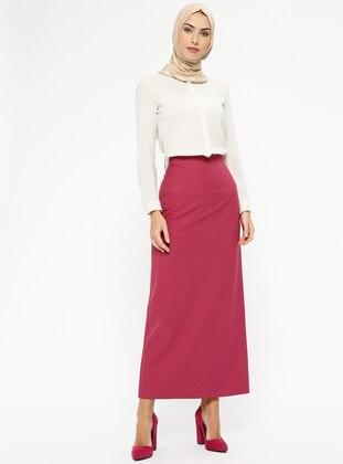 Pink - Fuchsia - Unlined - Skirt