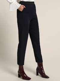 Navy Blue - Stripe - Pants