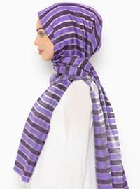 Plum - Striped - Shawl