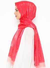 Red - Plain - Shawl