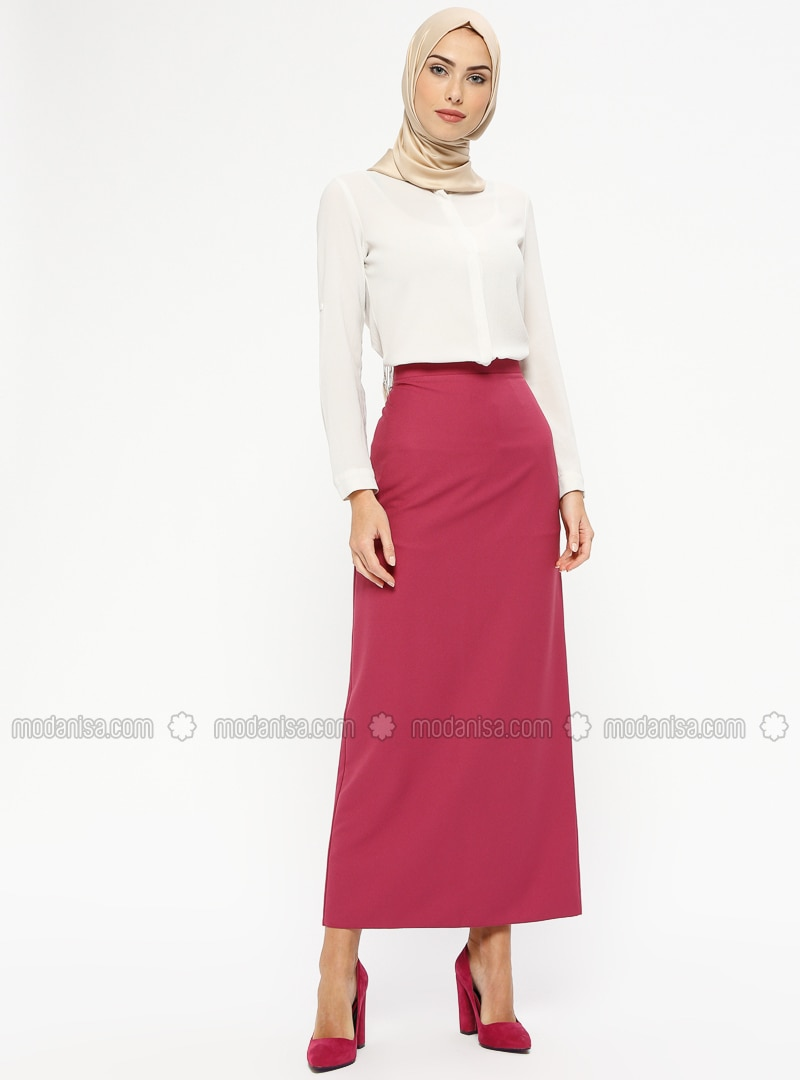 Pink - Fuchsia - Unlined - Skirt