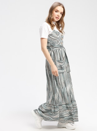 Mint - Stripe - Fully Lined - Dresses