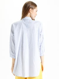 Baby Blue - Point Collar - Blouses