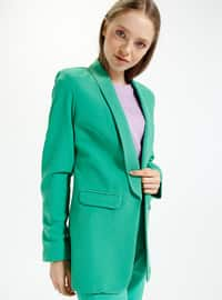 Green - Unlined - Shawl Collar - Jacket