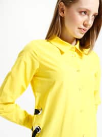 Yellow - Point Collar - Blouses