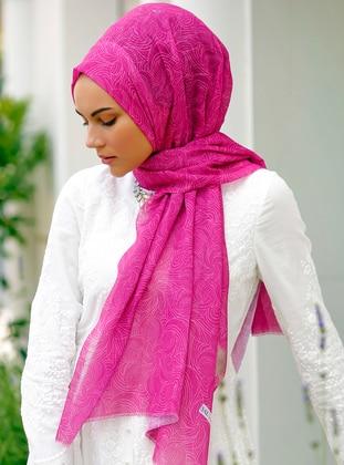 Fuchsia - Printed - Shawl - Şal Evi