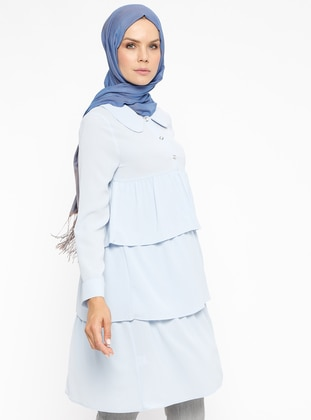 Blue - Round Collar - Tunic