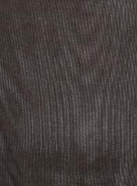 Black - Plain - Viscose - Scarf