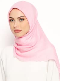 Pink - Plain - Viscose - Scarf