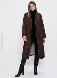 Brown - Leopard - Fully Lined - Plus Size Coat