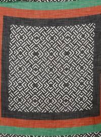Black - Emerald - Printed - Viscose - Scarf