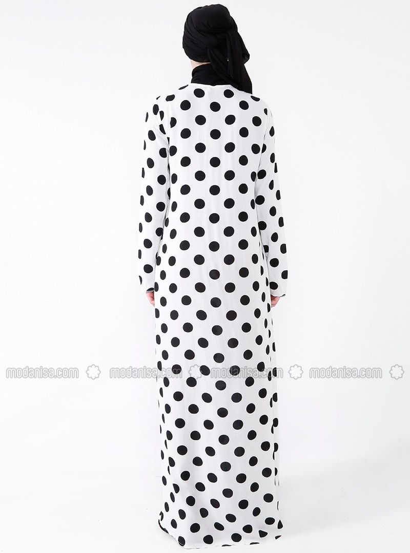 c0c6cdbc438 Ecru - Polka Dot - Crew neck - Unlined - Dresses