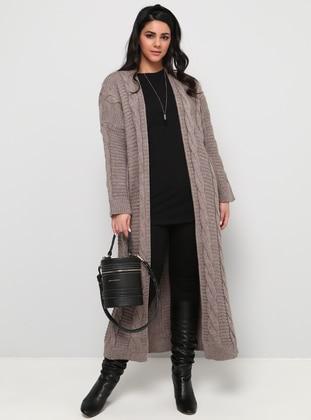 Minc - Acrylic -  - Plus Size Cardigan