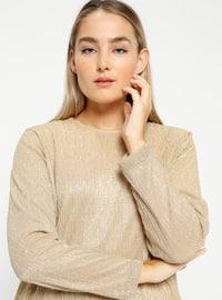 Golden tone - Crew neck - Plus Size Tunic
