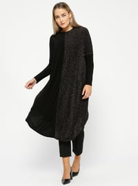 Black - Crew neck - Plus Size Tunic
