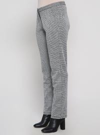 Black - Houndstooth - Plus Size Pants