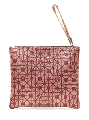 Maroon - Silver Tone - Clutch Bags / Handbags - Y-London