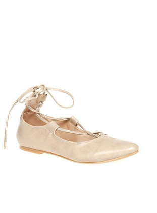 Beige – Flat – Flat Shoes – Y-London