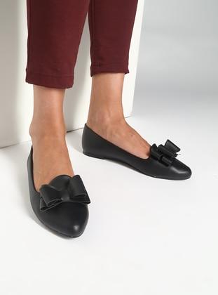 Black – Flat – Flat Shoes – Bambi
