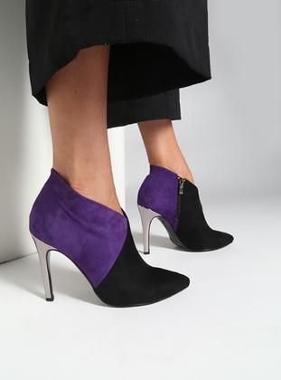 Black – Purple – Boot – Boots – Bambi