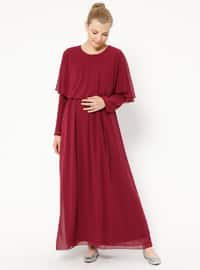 Cherry - Crew neck - Fully Lined - Maternity Dress
