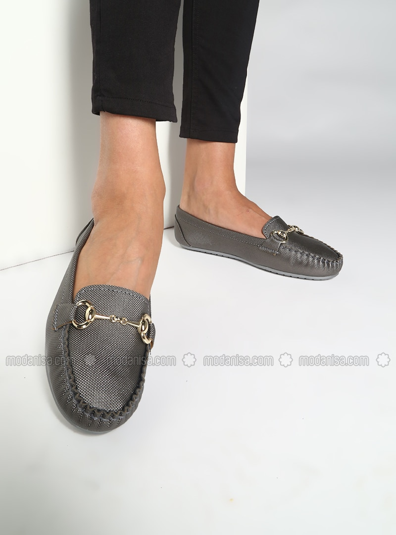 Silver Tone - Flat - Casual - Shoes
