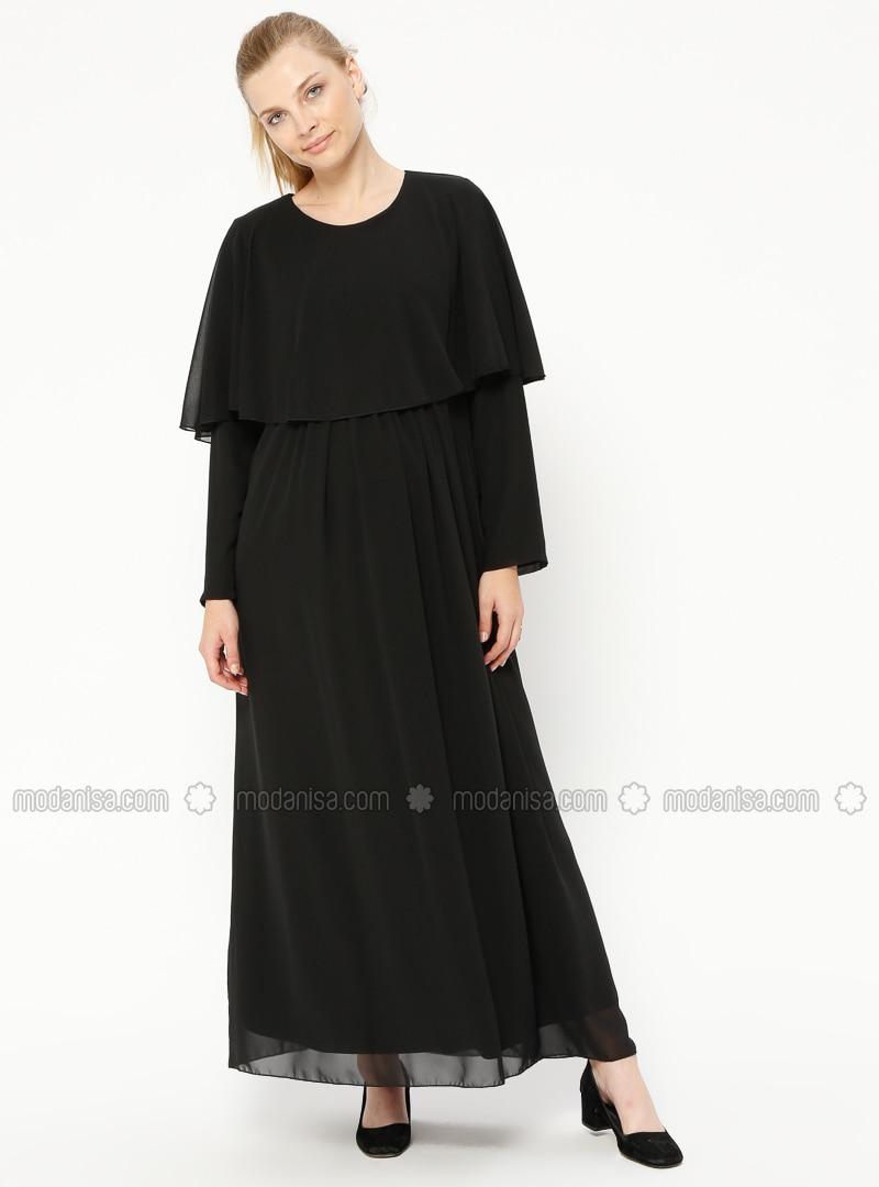 d0037634e8 Black - Crew neck - Fully Lined - Maternity Dress