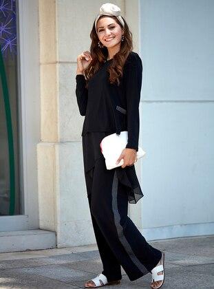 Aslı Bluz&Pantolon İkili Takım - Siyah - An-Nahar Ürün Resmi