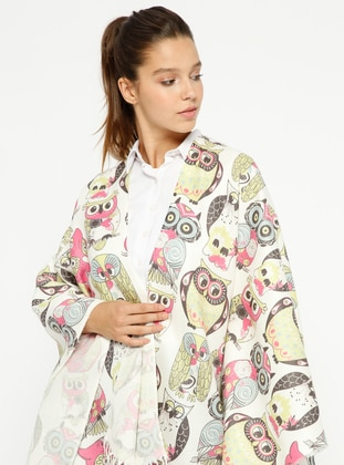 Green - Multi - Unlined - Poncho