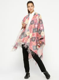 Purple - Multi - Unlined - Poncho