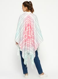 Pink - Multi - Unlined - Poncho