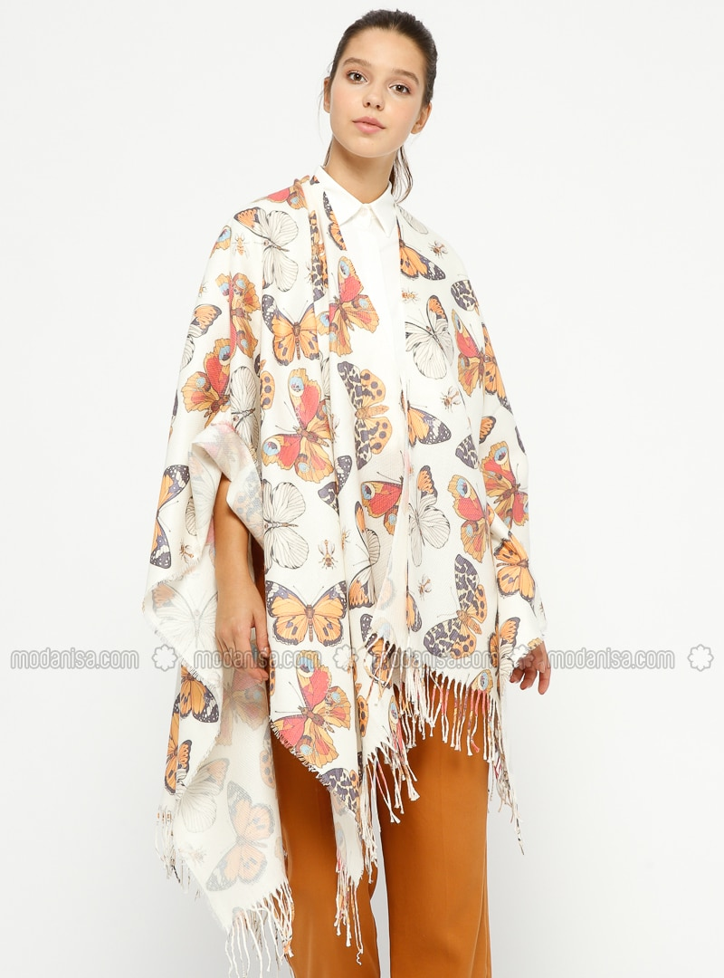 Mustard - Multi - Unlined - Poncho
