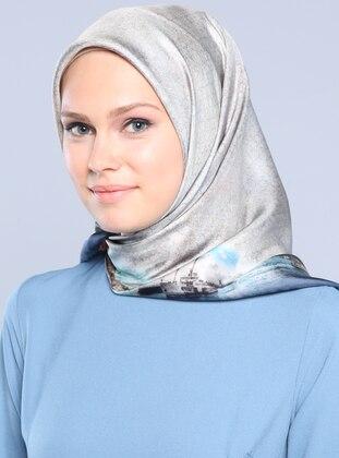 Twill İpek Eşarp - Karışık Renkli - Armine Eşarp Ürün Resmi