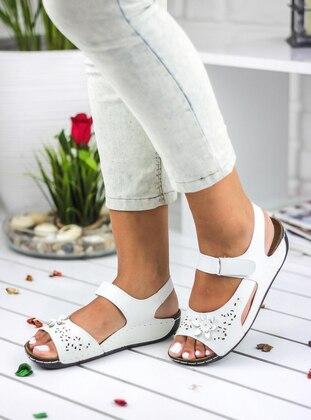 Awon Sandalet - Beyaz