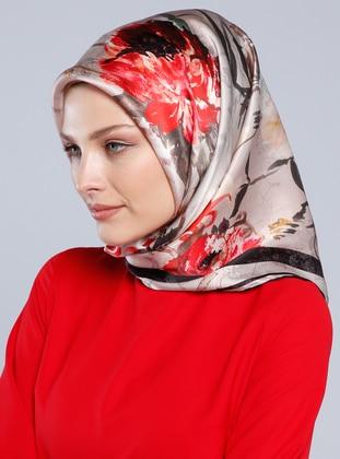 Multi - Printed - %100 Silk - Surah - Scarf - Armine Eşarp