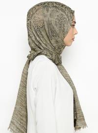 Khaki - Printed - Shawl