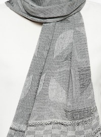 Gray - Printed - Shawl