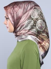 Multi - Printed - %100 Silk - Surah - Scarf