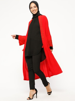 Red - Unlined - Poncho