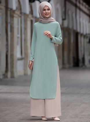 Green Almond - Unlined - Suit -  Tesettür