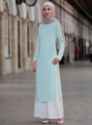 Mint - Unlined - Suit -  Tesettür