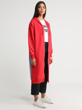 Red - Blue - Unlined - Cotton - Topcoat