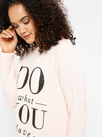 Pink - Cotton - Tracksuit Top