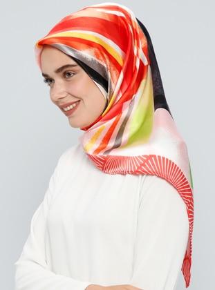 Coral – Printed – %100 Silk – Scarf – Tekbir Esarp