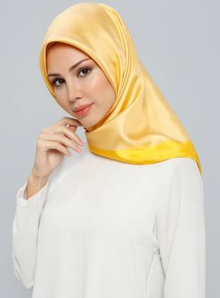 Golden Tone – Plain – %100 Silk – Scarf – Tekbir Esarp