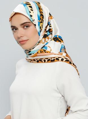 Camel – Printed – %100 Silk – Scarf – Tekbir Esarp