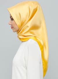 Golden tone - Plain - %100 Silk - Scarf